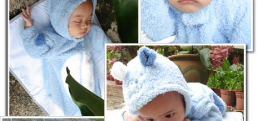 Baby blue bear has been tamed by Diyana