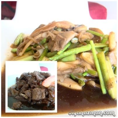 Stir Fried Vegetables and Marmite Beef
