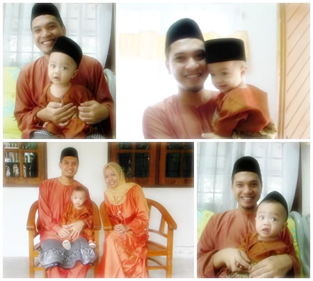happy family hari raya