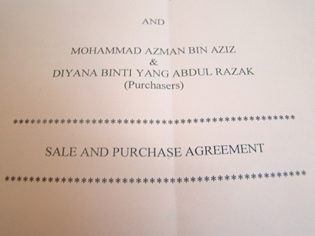 the sales and purchase agreement