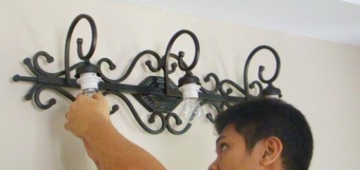 installing light bulbs
