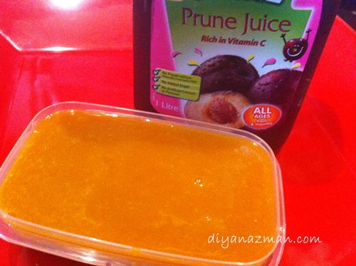 carrot with prune juice]