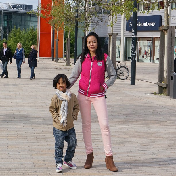 My son and I at Wolfsburg Designer Outlet