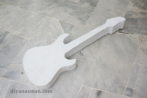 how to make an electric guitar pinata