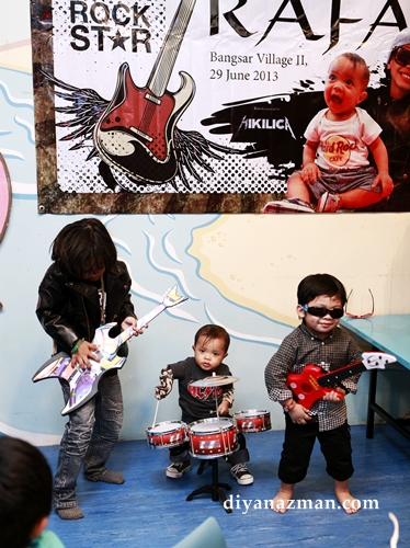 kids rock band for birthday party