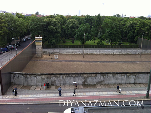 berlin wall from top view