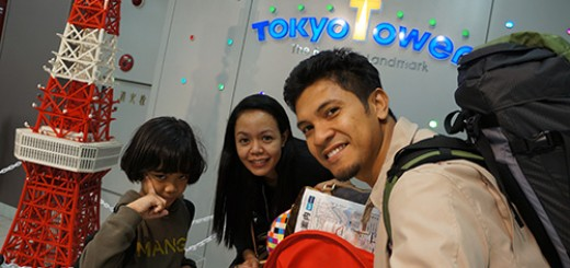 Family selfie at Tokyo Tower