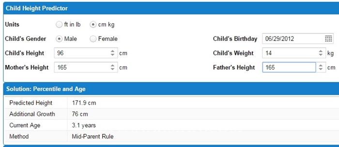 Height Predictor: Calculate Your Childs Adult Height